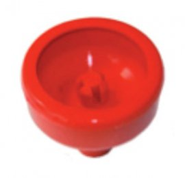 Coupelle-de-lavage-silicone-rouge-Almatic-adaptable-Delaval